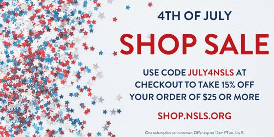 NSLS 4th of July Shop Sale