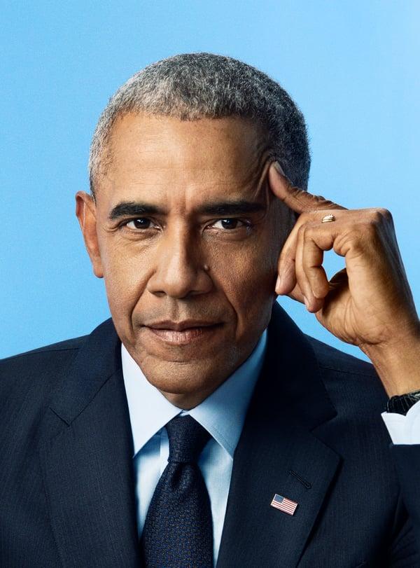 President Obama_ credit Pari Dukovic- A Promised Land author photo