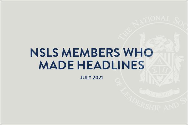 NSLS Members Who Made Headlines in July 2021