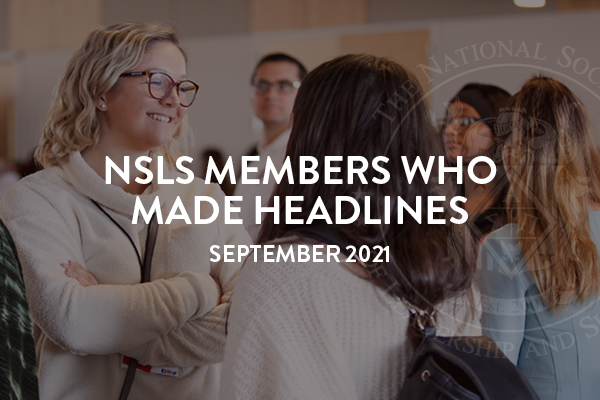 NSLS Members in the News September 2021